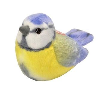 Pluche vogel met geluid - Pimpelmees