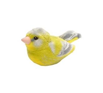 Pluche vogel met geluid - Groenling