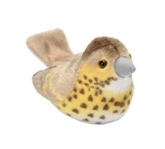 Pluche vogel met geluid - Zanglijster