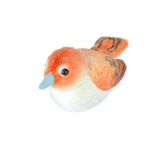 Pluche vogel met geluid - Nachtegaal