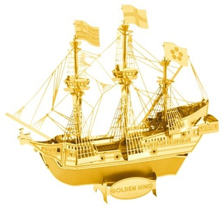 Metalearth Golden Hind Gold