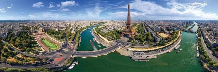 Puzzel Paris France Panorama 1000 stukjes