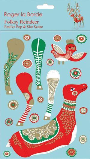 Pop & Slots X-Mas Folksy Reindeer