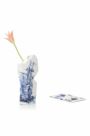Paper Vase Cover Delftblue Ship