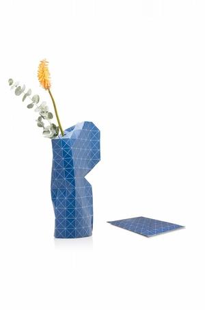 Paper Vase Deep Blue