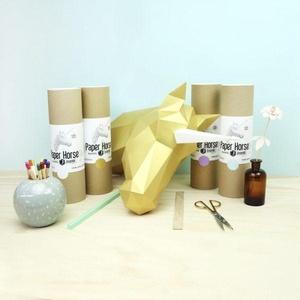Paper Paard / Eenhoorn Hout Assembli
