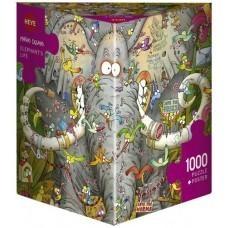 Puzzel Elephant's Life 1000 stukjes