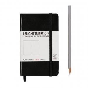 Leuchtturm A6 Pocket Black Dotted Hardcover Notebook