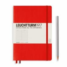 Leuchtturm A5 Medium Red Ruled Hardcover Notebook