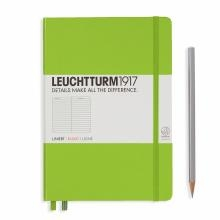 Leuchtturm A5 Medium Lime Ruled Hardcover Notebook