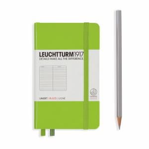 Leuchtturm A6 Pocket Lime Ruled Hardcover Notebook