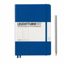 Leuchtturm A5 Medium Royal Blue Plain Hardcover Notebook