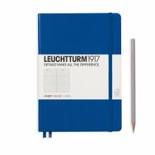 Leuchtturm A5 Medium Royal Blue Ruled Hardcover Notebook