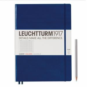 Leuchtturm A4+ Master Slim Navy Squared Hardcover Notebook