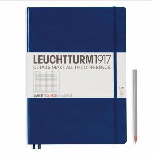Leuchtturm A4+ Master Slim Navy Squared Hardcover Notebook