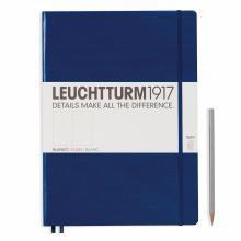 Leuchtturm A4+ Master Slim Navy Plain Hardcover Notebook