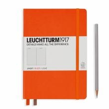 Leuchtturm A5 Medium Orange Ruled Hardcover Notebook