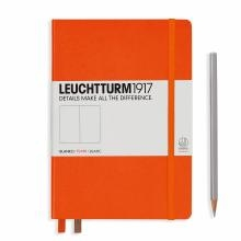 Leuchtturm A5 Medium Orange Plain Hardcover Notebook