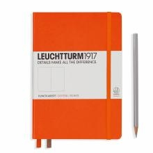 Leuchtturm A5 Medium Orange Dotted Hardcover Notebook