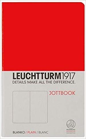 Leuchtturm A6 pocket red plain jottbook softcover notebook