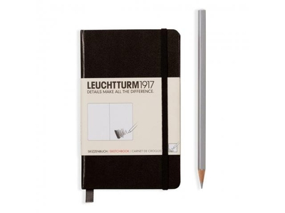 Leuchtturm A6 sketch book pocket black