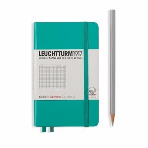 Leuchtturm A6 Pocket Emerald Squared Hardcover Notebook