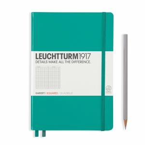 Leuchtturm A5 Medium Emerald Squared Notebook