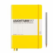 Leuchtturm A5 Medium Lemon Plain Hardcover Notebook