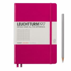 Leuchhturm A5 Medium Berry Squared Hardcover Notebook