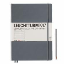 Leuchtturm A4+ Master Slim Anthracite Ruled Hardcover Notebook