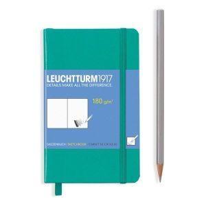 Leuchtturm sketch book emerald pocket hardcover