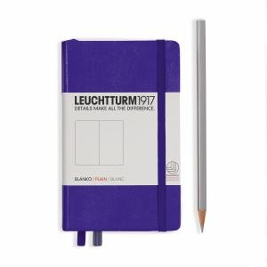Leuchtturm A6 Pocket Purple Plain Hardcover Notebook