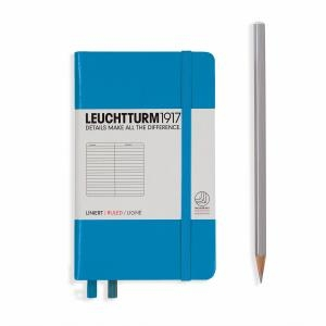 Leuchtturm A6 Pocket Azure Ruled Hardcover Notebook