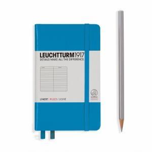 Leuchtturm A6 Pocket Dotted Azure Hardcover Notebook