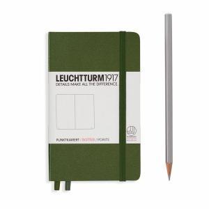 Leuchtturm A6 Pocket Army Plain Hardcover Notebook