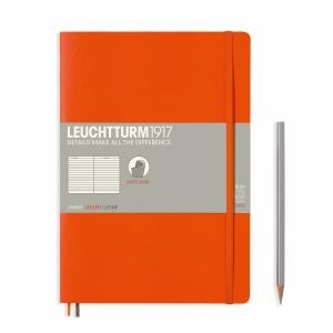 Leuchtturm B5 Orange Ruled Softcover Notebook