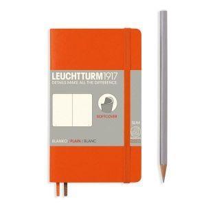 Leuchtturm A6 pocket orange plain softcover notebook