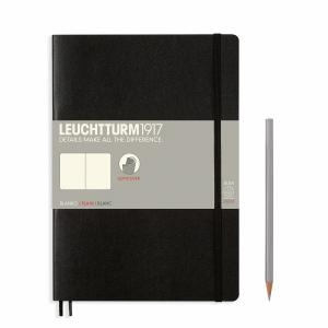 Leuchtturm B5 Black Plain Softcover Notebook