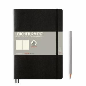 Leuchtturm B5 Black Dotted Softcover Notebook