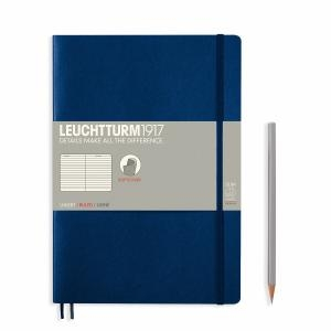 Leuchtturm B5 Navy Ruled Softcover Notebook