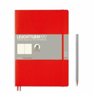 Leuchtturm B5 Red Plain Softcover Notebook