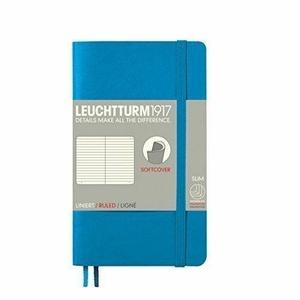 Leuchtturm A6 pocket azure ruled softcover notebook