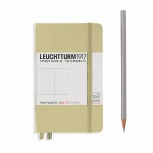 Leuchtturm A6 Pocket Sand Dotted Hardcover Notebook