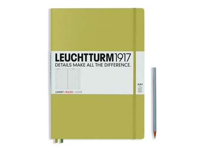 Leuchtturm A4+ Master Slim Sand Lined Hardcover Notebook