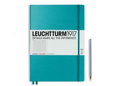 Leuchtturm A4+ Master Slim Nordic Blue Squared Hardcover Notebook
