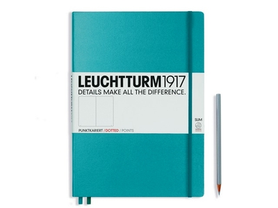 Leuchtturm A4+ Master Slim Nordic Blue Dotted Hardcover Notebook
