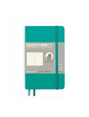 Leuchtturm A6 pocket emerald dotted softcover notebook