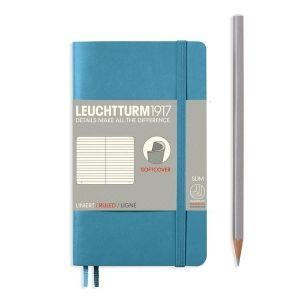 Leuchtturm A6 pocket nordic blue ruled softcover notebook