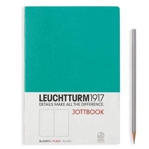 Leuchtturm A5 jottbook medium emerald plain softcover notebook