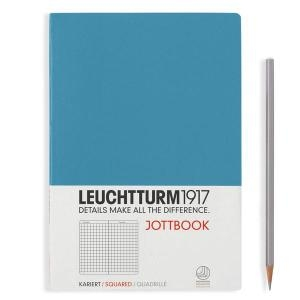 Leuchtturm A5 jottbook medium nordic blue squared softcover notebook